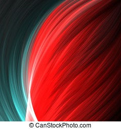 Contrast Abstract - Flowing textures, red and green contrast...
