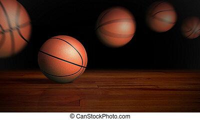 contrast basket ball motion