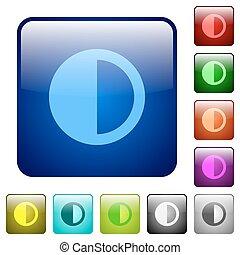 Contrast control color square buttons