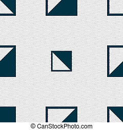 contrast icon sign. Seamless abstract background with geometric shapes.