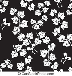 Contrast ivy seamless pattern - Seamless black and white ...