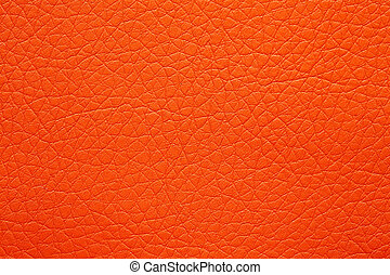 Contrast leatherette texture in awesome orange tone.