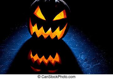 Contrast light from the pumpkin