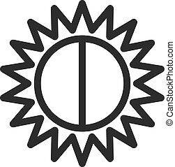 Contrast, nature, pattern icon vector image.Can also be used...