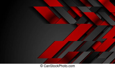 Contrast red and black geometrical video animation - ...