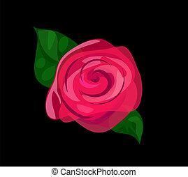 Contrast rose background
