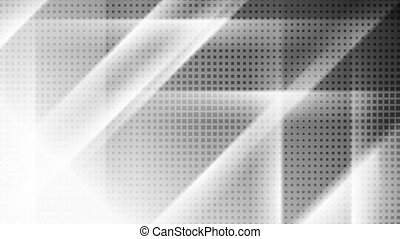 Contrast white and black tech geometric motion background....