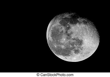contraste, luna, alto
