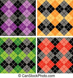 Contrasting Argyle Patterns