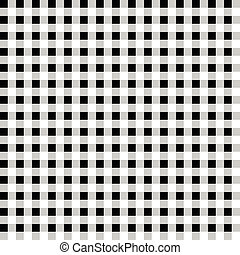 Contrasty pattern with squares. Seamlessly repeatable. Vector art.