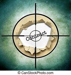 contrat, cible, concept