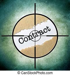 contrat, cible