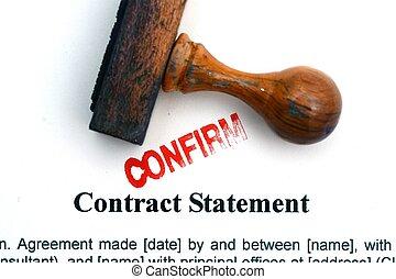 contrat, déclaration