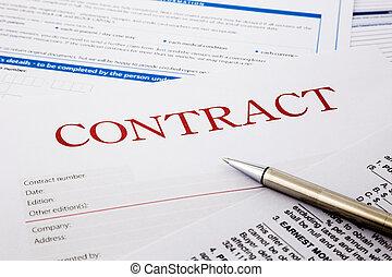 contrat, formulaire