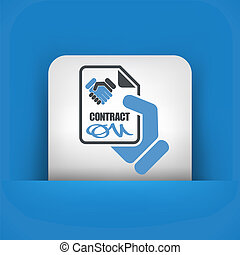contrat, icône
