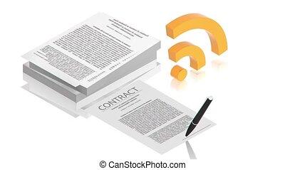 contrat, internet
