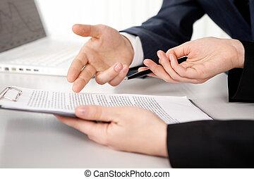 contrat, point