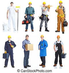 contratantes, trabalhadores, pessoas.