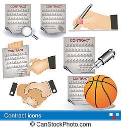 contrato, ícones