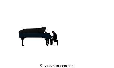 contre, américain, interprète, piano, afro, blanc