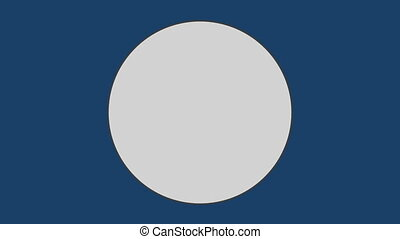 contre, arrière-plan bleu, cercle