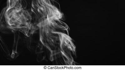 contre, fumée, uhd, métrage, réaliste, fond foncé