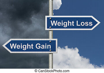contre, perte, gain, poids
