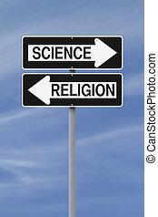 contre,  science,  religion