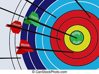 contre, spéculation, business, concept:, stratégie
