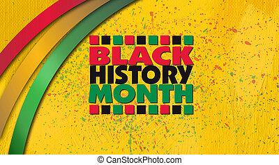 contre, titre, jaune, noir, histoire, fond, grunge, mois, rubans, traitement, graphique