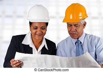 contremaître, personne agee, construction
