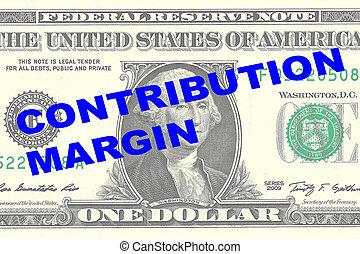 Contribution Margin concept - Render illustration of '...