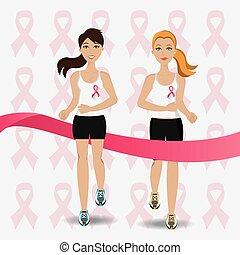 contro, lotta, campagna, cancro, seno