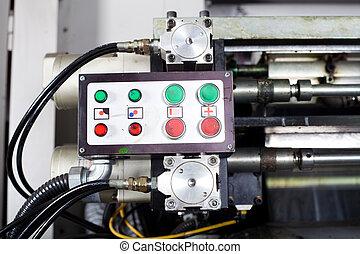 control box of industrial printing press