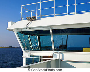 Control bridge of a ship