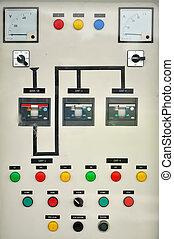 control, caja, eléctrico