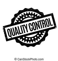 control, caucho, calidad, estampilla