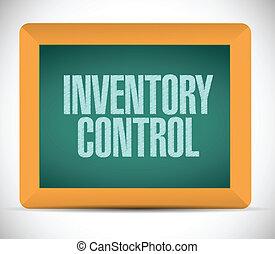 control, chalkboard., mensaje, inventario