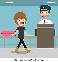 control, cheque de seguridad