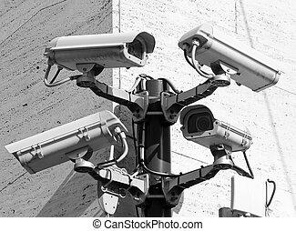 control, ciudad, punto, muy, peligroso, cámara vigilancia,...