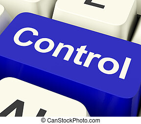 Control Computer Key Showing Remote Controller Or Interface