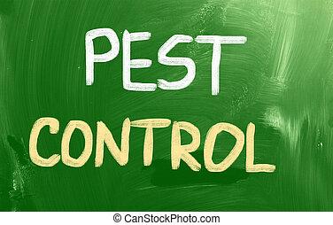 control, concepto, peste
