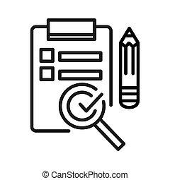 control de calidad, servicio, ilustración, diseño