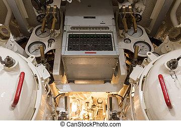 control, de, torpedo, tubos, en, un, submarino