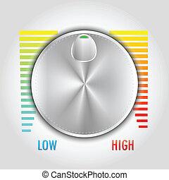 control de volumen, botón