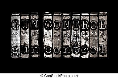 control del arma
