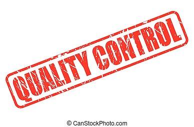 control, estampilla, calidad, rojo, texto