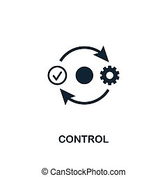 Control icon. Premium style design from business management icon collection. Pixel perfect Control icon for web design, apps, software, print usage