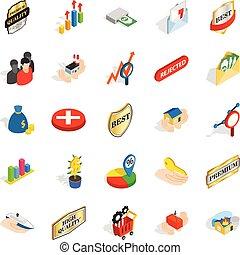 Control icons set, isometric style - Control icons set....