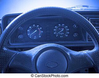 Control - Interiors details of car